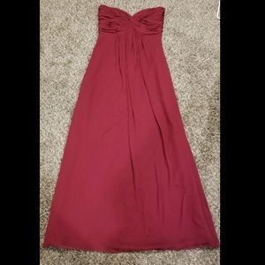 Maroon Bridesmaid/Prom Dress